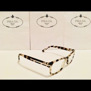 55b06e01910 Prada Accessories - Prada Eyeglasses VPR16S Spotted Opal Brown 52mm